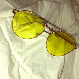 yellow vintage style sunglasses